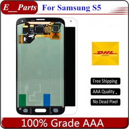 Wholesale P Test - For Samsung Galaxy S5 I9600 G900 A F P V T New Test LCD Display Screen Touch Screen Digitizer Replacement Parts Free shipping