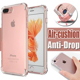 Wholesale Protection Shock - Air Cushion Corners Case Anti-shock Soft TPU Drop Protection Ultra Thin Slim Transparent Clear Crystal Gel Cover For 7 Plus 6 6s SE 5s 5