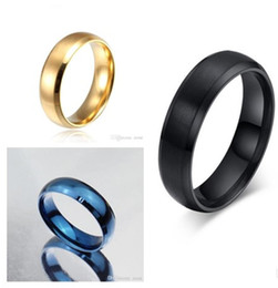 Wholesale Tungsten Comfort Fit Wedding Bands - Women Men's Wide 6mm Tungsten ring Band Comfort Fit Classic Wedding Plain Dome Polished Size 5-14