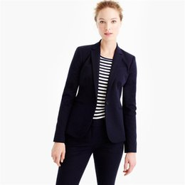 Wholesale Ladies Working Pants - Women's Black Slim Fit Causal Party Suits One Button Blazers Working Suits One Button Office Tuxedos Blazers Lady Suit (Pants+Vest)