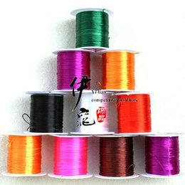 Wholesale Stretchy Beading Cord Wholesale - Jewelry string cord 300M Nylon Cord Elastic Beads Cord Necklace Pendant Stretchy Thread String DIY Jewelry Beading Wire Ropes 11 colors