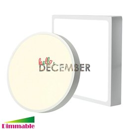 Wholesale 12 Led Downlight - Surface Mounted LED Panel Lights Dimmable 9W 15W 21W 30W 5-7-9-12 Inch LED Ceiling Lamp LED Downlight