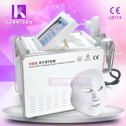 Wholesale Gun For Mesotherapy - 2017 5 In 1 No Needle Mesotherapy Machine With Ice Cooling For Skin Tightening RF Derma Pen Needle Free Gun LED Facial Mask