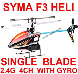Wholesale Top 4ch Rc Helicopters - TOP Quality ! SYMA F3 2.4G HZ 4CH Single Blade Metal Remote Control RC Helicopter Ar.drone Drone With Gyro Best Toy Gifts Kids