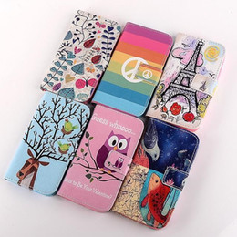 Wholesale Inner Painted - For iPhone6 6plus 5s 5c 4s Owl Flower Painted Luxury Wallet Stand Credit Card Slot Leather Case Cover With Silicone Soft inner Cover