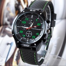 Wholesale Gt Grand Touring - Luxury GT Grand Touring Men Watch Mens Military Watches GT Brand Sport Silicone Strap Wristwatches Fashion Quartz Dress Wrist Watch 2017