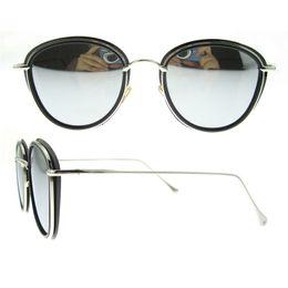 Wholesale Men Sunglasses China - Oval full-rim tr90 frame silver grey blue polarized lens popular hot china wholesale women men sunglasses
