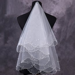 Wholesale Short Bridal Veils For Sale - 2017 Ivory Tulle Short Bridal Veils 2017 Hot Sale Cheap Wedding Bridal Accessory For wedding Dresses Cheap Wedding Net In Stock