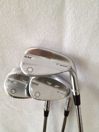 """Wholesale 54 Wedge - Golf Vokey SM6 Wedges Black Silver 50 52 54 56 58 60"""" Right Hand 3PCS SM6 Golf Wedges Top quality"""