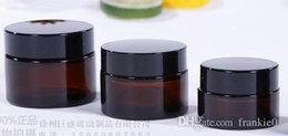 Wholesale Glass Amber Jars - amber color 5ml glass jar tempered glass storage jars dab wax jar container oil concentrate & cosmetic cream container