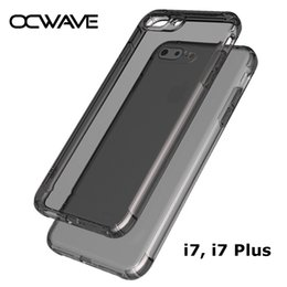 Wholesale Shock Camera - OCWAVE for iPhone 7 case thick silicone TPU material with small camera hole SHOCK RESISTANCE covers for iphone 7 plus