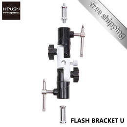 Wholesale Flash Hot Shoe Tripod Mount - Wholesale-Hpusn Flash hot Shoe mount Light Stand tripod adapter flash light holder Swivel Bracket for Universal ballhead Umbrella support