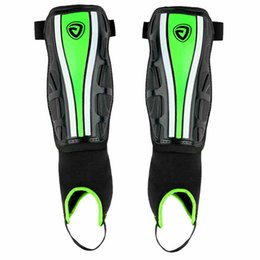 Wholesale Ankle Protection Football - Wholesale- JANUS Professional Soccer Shin Guards Football Training Protector Low Leg Pads Leggings Plate Shin Guards With Ankle Protection
