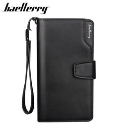 Wholesale Best Cell Phone Holder - Wholesale- BAELLERRY Men Wallets Men Purse Clutch Bag PU Leather Wallet Long Design Card Holders Carteira Masculina Best Gift HQB1800