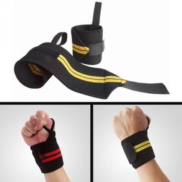 Wholesale Building Bracing - Wholesale- 1Pair New Weight Lifting Hand Wrist Bar Support Strap Brace Support Gym Strap Weight Lifting Wrap Belt Body Building Grip Glove