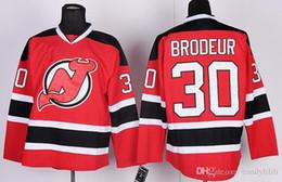 Wholesale Brodeur Jersey Xl - Stitched New Jersey Devils #30 Brodeur #9 Hall #17 Kovalchuk 15 LANGENBRUNNER Red Green Hockey Jerseys Ice do Drop Shippingm Mix Order
