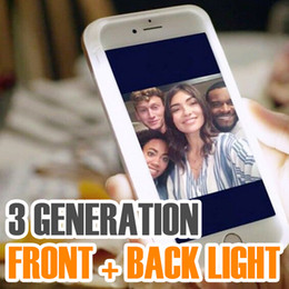 Wholesale Led Light Fit - 3 Generation Self-Timer Fill LED Light Up Cases For iPhone 7 6s selfie light Phone Case Protective Cover with Retail Package