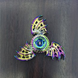 Wholesale Gold Metal Wholesale - Zinc Alloy Flying Dragon Eagle Eye Fidget Spinner Hexagon EDC Metal Decompression Toy Tri Spinners