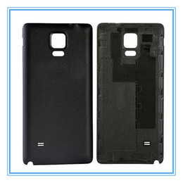 Wholesale Oem Doors - High Quality New Parts OEM Battery Door for Samsung Galaxy Note 4 N910 Black White Back Cover Door Housing Case With Logo Free Shipping
