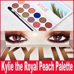 Wholesale New Kylie Cosmetics By Kylie Jenner Royal Peach Palette Brand New Colors Eyeshadow Palette
