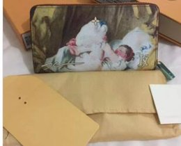 Wholesale Rococo Style - SELL new French luxury handbags French famous Rococo style painter's series of handbags 64605 Women's wallet