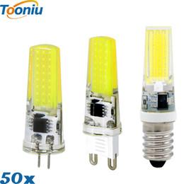 Wholesale G9 Led Bulb 12v - 50Pcs Wholesale G4 G9 E14 LED Bulb 220V 3W 2W AC DC 12V COB bombillas LED Bulb LED lamp G9 G4 COB Lights Replace 30W Halogen Spotlight