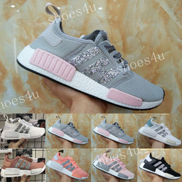 Wholesale Nice 45 - 2017 NMD Runner R1 Primeknit White OG Black Nice Kicks Men Women Running Shoes Sneakers Originals Classic Casual Shoes With Box size 36-45