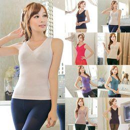 Wholesale Tight Waist Shapewear - Wholesale- Hot Body Shapers Women Vest Tight Waist Trainer Shirt Sleeveless Tops T-Shirts Shapewear Tops