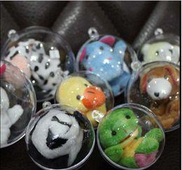 Wholesale Plastic Christmas Ornament Balls - 6 size 4 5 6 7 8 10cm Transparent plastic balls, hanging plastic Christmas balls, decorations ,free shipping