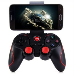 Acheter en ligne Contrôleur bluetooth android gamepad-Contrôleur de jeu T3 Smart Phone Joystick sans fil Bluetooth 3.0 Android Gamepad Gaming Télécommande pour téléphone Tablette PC