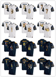 Wholesale Desean Jackson - California Golden Bears 2018 New C-J- Anderson 9 Davis Webb 7 Demetris Robertson 8 DeSean Jackson 1 Men's Fashion Football Shirts