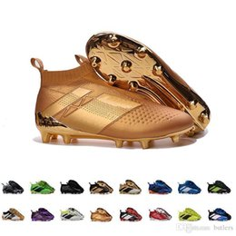 Wholesale Cheap Soccer Cleats Free Shipping - 2017 Discount ACE 16+ PureControl FG Cheap Wholesale Soccer Shoes Men Soccer Cleats Top Quality Hot Sale EuroCup Free Drop Shipping