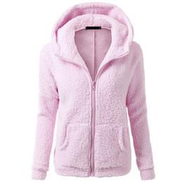 Wholesale Women Coat Fashion Overcoat - Wholesale- Womens Winter Thicken Fleece Warm Coat Hooded Parka Overcoat Jacket Outwear
