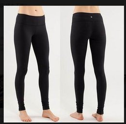 Wholesale Spandex Trousers - Show thin Lulu Yoga Gym Elastic Wunder Under Pant trousers ladies Sport Fitness Leggings Tights Sportswear Yoga pants High Times Pant 2018