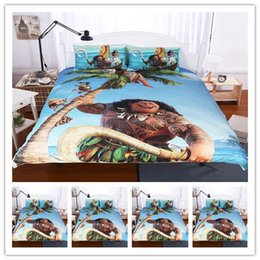 Wholesale Cheap Bedding For Kids - Cartoon Bed Duvet Quilt Cover Set Cotton Moana For Kids Queen Duvet Cover Bedding Children Blue In bedding Sets Cheap NEW Arrival