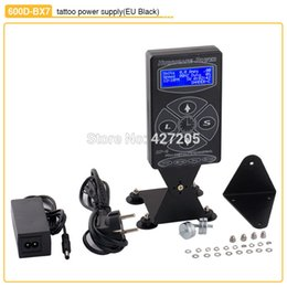 Wholesale Tattoo Dual Machine Kit - Wholesale-High Quality Black Stand Tattoo Power Supply with Digital LCD Display Liner Shder Dual Setting for Machine Kits Free Shipping
