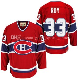 Wholesale Roy Jersey - Mens Montreal Canadiens 33# Patrick Roy CCM Red Heroes of Hockey Alumni Jersey stitched Custom Hockey Jerseys fast free shipping