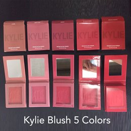 Wholesale Natural Rate - 2017 Makeup Kylie Matte Pressed Powder Blush 5 Colors X Rated Barely Legal Virginity Hot and Bothered Hopeless Romantic