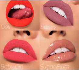 Wholesale Love Doll Sizes - Kylie Cosmetics In Love With the Koko Doll Bunny Baby Girl Sugar PlumShade Liquid Matte Lipstick 4pcs set