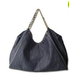 Wholesale Jean Shoulder Bags - Jean Denim Ladies Hand Bag Women Big Hobo Handbag Shopper Tote Large Messenger Cross body Shoulder Bag