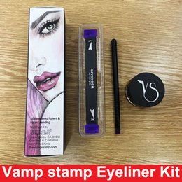 Wholesale Easy Free - New Vamp stamp Winged Liner set double-ended Vavavoom Wing Stamp Vavavoom Medium Large wing stamp with eyliner cream DHL free shipping