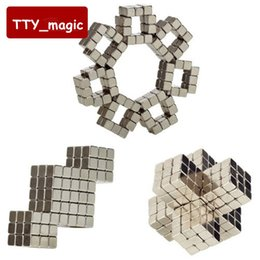 Wholesale Neodymium Magnetic Magic Balls Puzzle - Wholesale- Hot Sale 216pcs Neodymium Magic Cube Magnetic cube Balls 4mm 5mm Funny Puzzle Toys for children best gifts with retail box