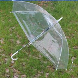 desempenho de abertura Desconto Guarda-chuvas transparentes guarda-chuva de abertura do punho longo Guarda-chuvas de PVC claro para o desempenho de dança praia casamento
