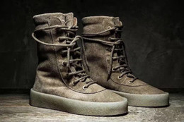 Wholesale Womens Winter Boots Sand - Kanye West Season 2 Boost Women Men wheat yellow boots outdoor Sport Shoes Womens Mes casual high-top sneakers Eur 36-44