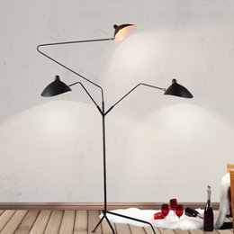 Wholesale Industrial Style - Wholesale Floor lamp 3 heads Duckbill floor light 3 arms by Serge Mouille floor light contemporary lighting industrial loft style