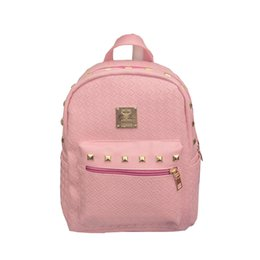 Wholesale College Korean Backpack - Wholesale- 2016 Hot Sale Weave Backpack College Wind Schoolbag PU Leather Woman Korean Fashion Leisure Travel Bag Boutique For Ladies