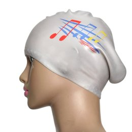 Wholesale Protect Hair Color - Wholesale- Free Size Silicon Protect Ears Long Hair Sports Siwm Pool Swimming Cap Hat Adults Men Women Sporty Ultrathin Adult Bathing Caps