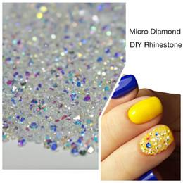 Wholesale Diamond Tips Nails - Wholesale- 1000PCS Pack 3D Nail Art Tips Micro Diamond Crystal Clear Non Hotfix Flatback Nails Rhinestones For DIY Nails Decoration