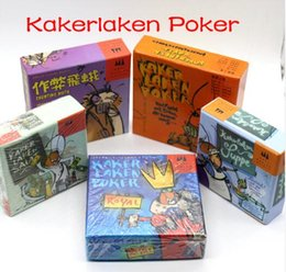 Wholesale Royal Board - 5 Options Funny Cards Game Kakerlaken Salat Poker Royal Suppe Cheating Moth Board Game Family Party Cockroach Indoor Game