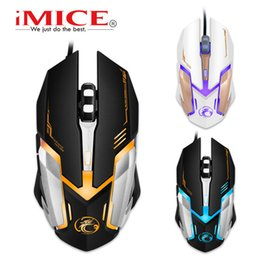 Wholesale Professional Gaming Mice - Original iMice V6 Professional Wired Gaming Mouse 2400DPI USB Optical Wired Mouse Mice 6 Buttons Computer Gamer Mouse For LOL Dota2 CS